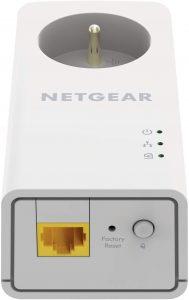 NETGEAR PLP1000-100FRS Pack de 2 prises CPL 1000 Mbps avec Prise filtrée et Port Ethernet.